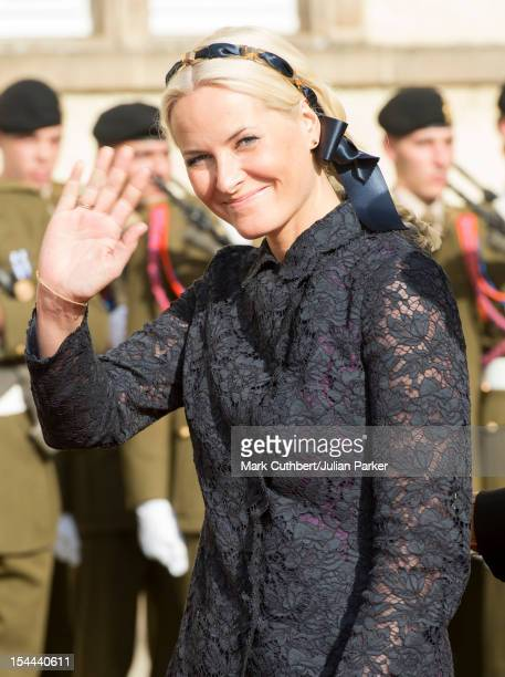 Princess MetteMarit of Norway attends the wedding ceremony of Prince Guillaume Of Luxembourg and Stephanie de Lannoy at the Cathedral of our Lady of...