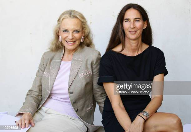 Princess Michael of Kent and Bianca Arrivabene attend the Luisa Beccaria Spring/Summer 2012 fashion show as part Milan Womenswear Fashion Week on...