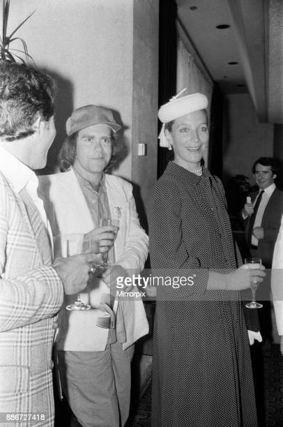 Princess Michael of Kent and Elton John at the Music Therapy Charity Luncheon at the Intercontinental Hotel in Park lane June 1979