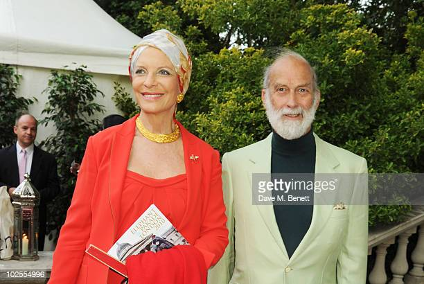 HRH Princess Michael of Kent and HRH Prince Michael of Kent attend The Elephant Parade auction in aid of The Elephant Family at Royal Hospital...