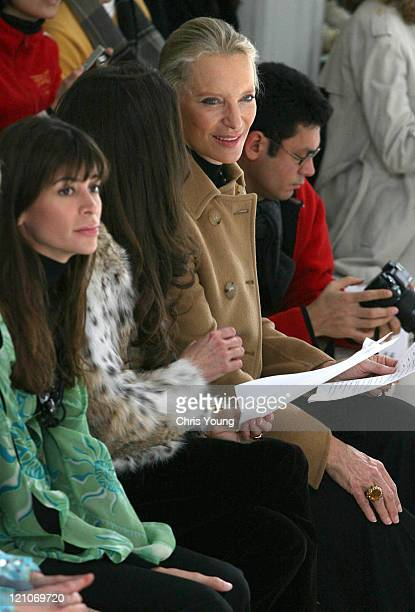 Princess Michael of Kent and Lisa B during London Fashion Week Autumn/Winter 2006 Allegra Hicks Front Row and Backstage at Royal Academy of Arts in...