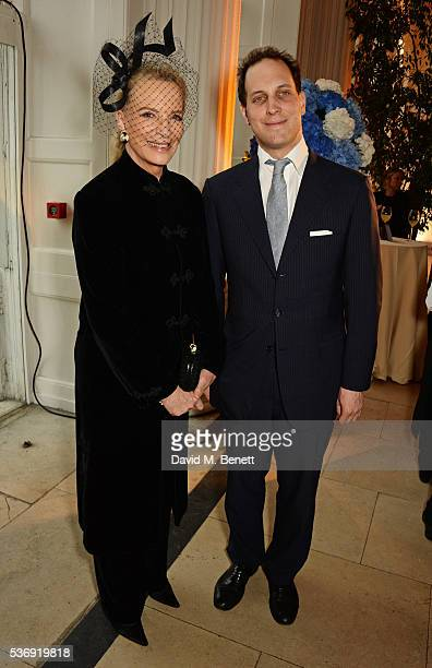 Princess Michael of Kent and Lord Frederick Windsor attend the launch of British fashion brand Sienna Jones' debut collection 'The Marina Range' at...