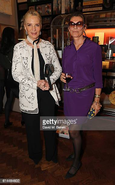 Princess Michael of Kent and Martine Assouline attend the launch of The Italian Dream Wine Heritage Soul at Maison Assouline on October 13 2016 in...