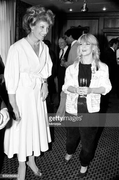 Princess Michael of Kent and Pop singer Toyah Willcox at the Silver Clef Awards The Silver Clef Awards is an annual UK music awards lunch 23rd June...