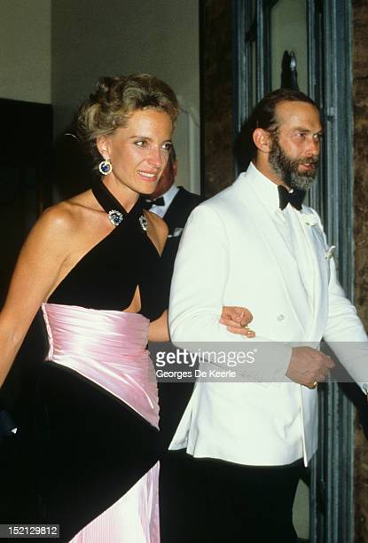 Princess Michael of Kent and Prince Michael of Kent attend a party for the Greek Royal Family in London on July 12 1986