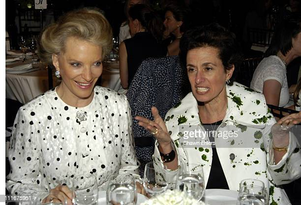 Princess Michael of Kent and Rose Marie Bravo during Burberry Fashion Show for New York Columbia Presbyterian Hospital and Weill Cornell Medical...