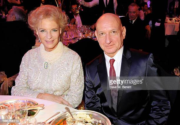 Princess Michael of Kent and Sir Ben Kingsley attend The Asian Awards at The Grosvenor House Hotel on April 16 2013 in London England