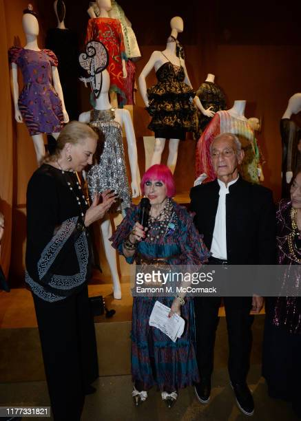 Princess Michael of Kent and Zandra Rhodes at the opening of Zandra Rhodes: 50 Years of Fabulous at The Fashion and Textile Museum on September 26,...