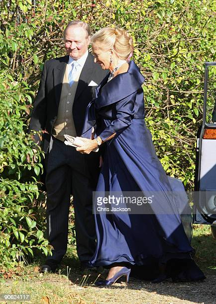 Princess Michael of Kent arrives at Lady Annabel Goldsmith's house Ormeley Lodge en route to the wedding of Lord Frederick Windsor and Sophie...