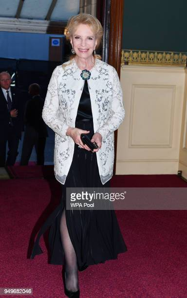 Princess Michael of Kent arrives at the Royal Albert Hall to attend a starstudded concert to celebrate the Queen's 92nd birthday on April 21 2018 in...