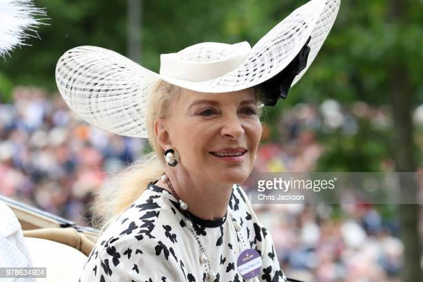 Princess Michael of Kent arrives by carriage to Royal Ascot Day 1 at Ascot Racecourse on June 19 2018 in Ascot United Kingdom