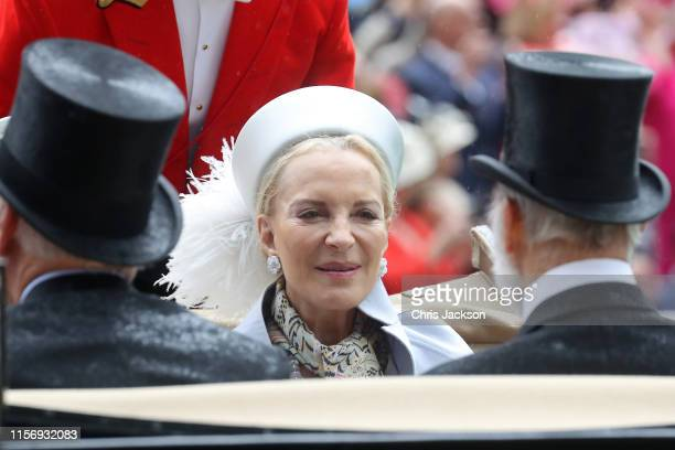 Princess Michael of Kent arrives in a horse carriage on day two of Royal Ascot at Ascot Racecourse on June 19, 2019 in Ascot, England.