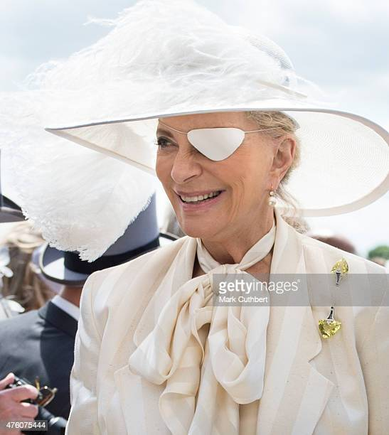 Princess Michael of Kent arrives on Derby Day at Epsom Racecourse on June 6 2015 in Epsom England