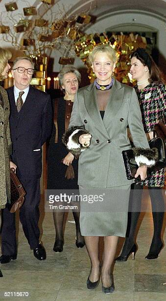Princess Michael Of Kent Arriving For A Fashion Show By Gianfranco Ferre In Aid Of The Red Cross At Banqueting House London