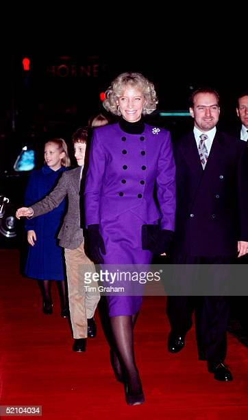 Princess Michael Of Kent Arriving With Her Children For The Variety Club Show In London