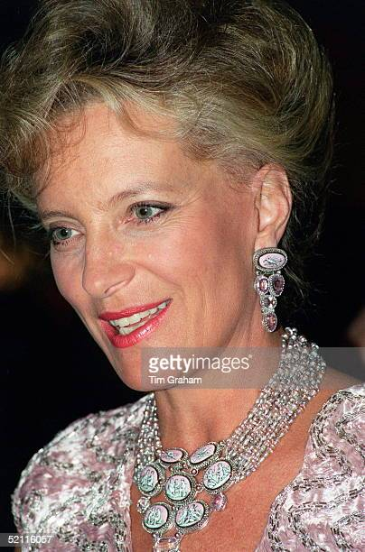 Princess Michael Of Kent At A Viennese Ball At The Savoy To Benefit 'sane' And 'fight For Life Wearing Dress Designed By The Lesters