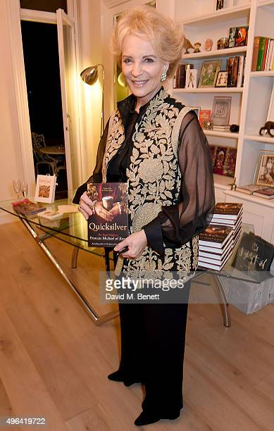 Princess Michael of Kent attend the launch of her book 'Quicksilver' the final volume of the Anjou trilogy at the home of Basia and Richard Briggs on...