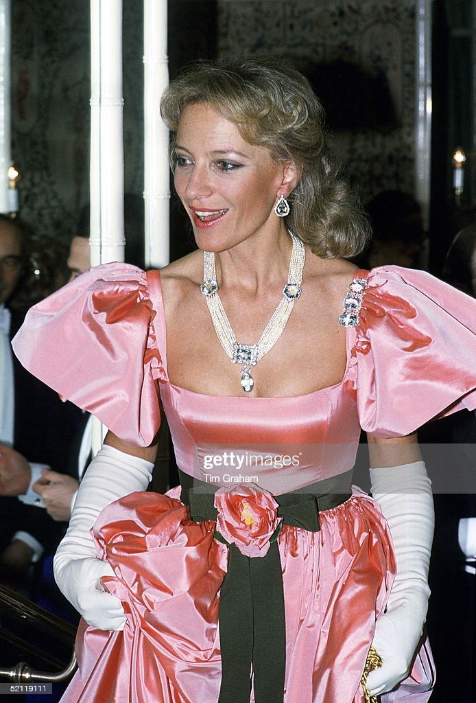 Princess Michael Of Kent Attending A Ball At The Dorchester Hotel In London
