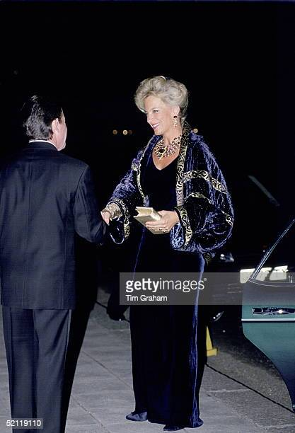 Princess Michael Of Kent Attending The Horse And Hound Ball At The Grosvenor House Hotel