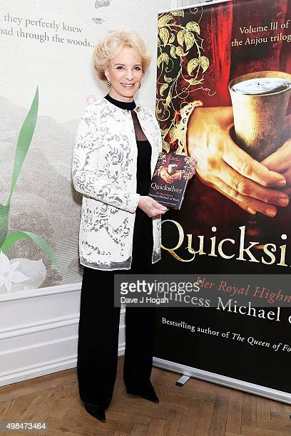 Princess Michael of Kent attends a book signing of 'Quicksilver' by HRH Princess Michael of Kent the final volume of the Anjou trilogy at Brown's...