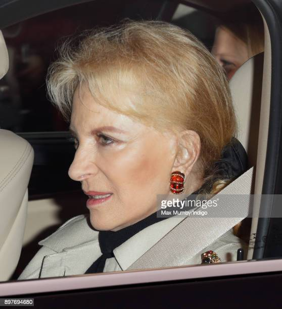 Princess Michael of Kent attends a Christmas lunch for members of the Royal Family hosted by Queen Elizabeth II at Buckingham Palace on December 20...