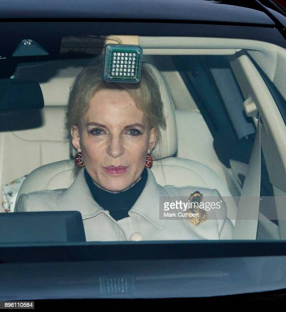 Princess Michael of Kent attends a Christmas lunch for the extended Royal Family at Buckingham Palace on December 20 2017 in London England