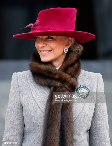 Princess Michael of Kent attends a National Service of Commemoration to mark the Bicentenary of the Battle of Trafalgar and the death of Vice-Admiral...