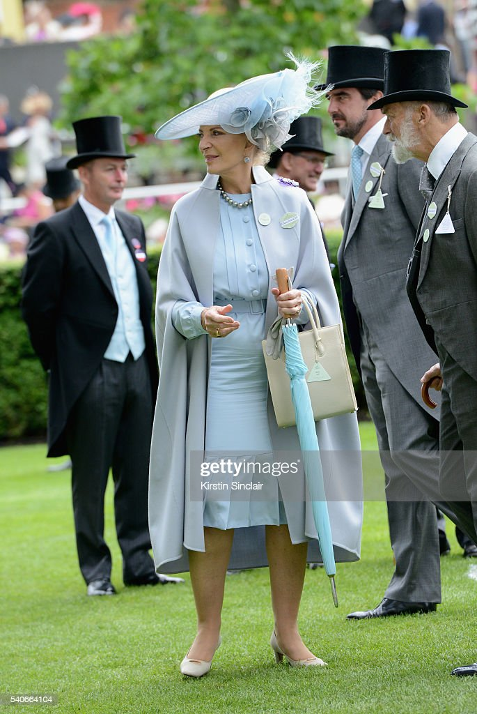 Princess Michael of Kent attends day 3 of Royal Ascot at Ascot Racecourse on June 16, 2016 in Ascot, England.