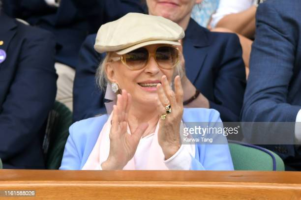 Princess Michael of Kent attends day eleven of the Wimbledon Tennis Championships at All England Lawn Tennis and Croquet Club on July 12, 2019 in...