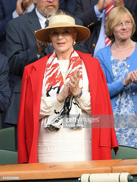 Princess Michael of Kent attends day one of the Wimbledon Tennis Championships at Wimbledon on June 27 2016 in London England