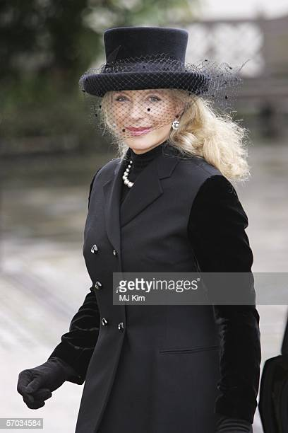 Princess Michael of Kent attends the second memorial service for Lord Lichfield, royal photographer and cousin of The Queen who died November 11 at...