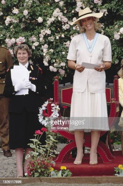 Princess Michael of Kent awards rosettes to members of the Horse Rangers Association , a London children's charity, at Hampton Court Palace in...