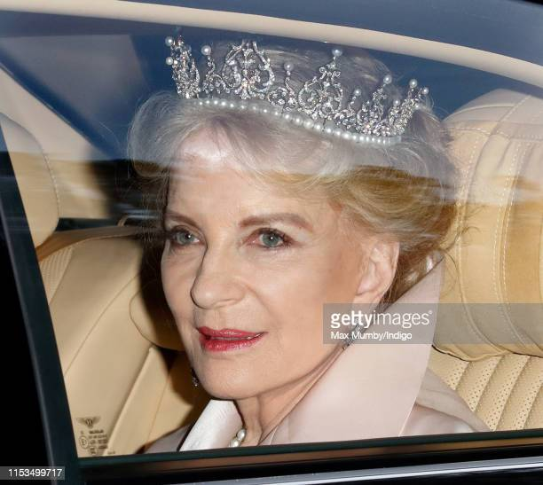 Princess Michael of Kent departs Kensington Palace to attend a State Banquet at Buckingham Palace on day 1 of US President Donald Trump's State Visit...