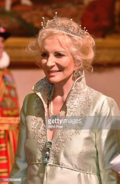Princess Michael of Kent during a State Banquet at Buckingham Palace on October 23 2018 in London United Kingdom King WillemAlexander of the...