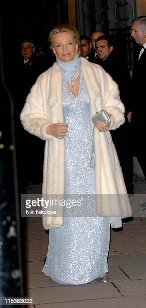 Princess Michael of Kent during The Italian Banquet Arrivals at Italian Embassy in London Great Britain