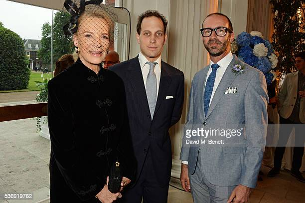 Princess Michael of Kent, Lord Frederick Windsor and Austin Mutti-Mewse attend the launch of British fashion brand Sienna Jones' debut collection...