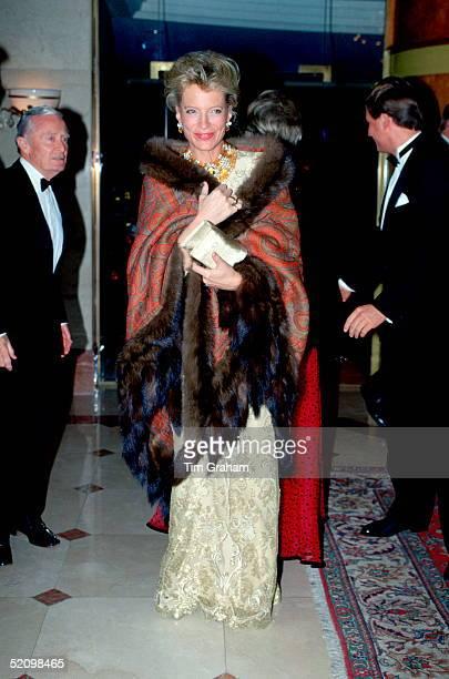 Princess Michael Of Kent Patron Of The Charity Sparks Arriving For Their Annual Christmas Ball At The Hilton Hotel The Princess Is Wearing A Gold...