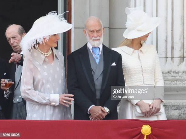 Princess Michael of Kent Prince Michael of Kent and Lady Gabriella Windsor look out from the balcony of Buckingham Palace during the Trooping the...