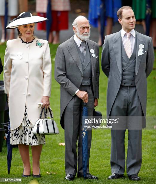 Princess Michael of Kent, Prince Michael of Kent and Lord Frederick Windsor attend day three, Ladies Day, of Royal Ascot at Ascot Racecourse on June...
