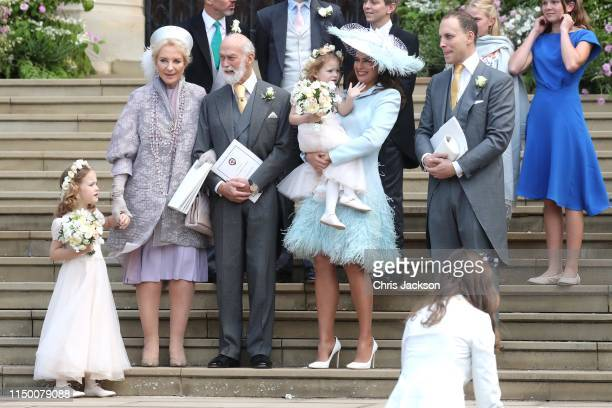 Princess Michael of Kent Prince Michael of Kent Sophie Winkleman and Lord Frederick Windsor after the wedding of Lady Gabriella Windsor and Mr Thomas...