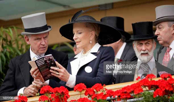 HRH Princess Michael of Kent studies a race card as she attends day four of Royal Ascot at Ascot Racecourse on June 18 2010 in Ascot England