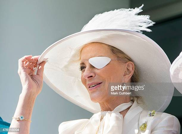 Princess Michael of Kent watching the racing on Derby Day at Epsom Racecourse on June 6 2015 in Epsom England