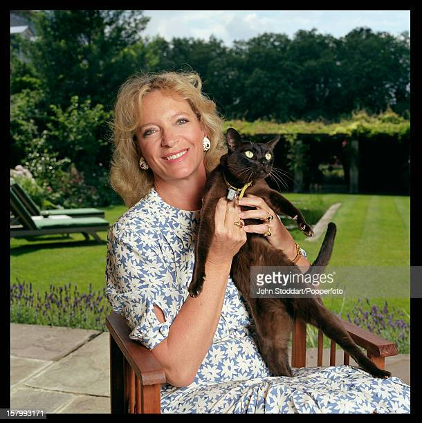 Princess Michael of Kent with a cat Kent in 2004