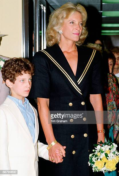 Princess Michael of Kent with her son Lord Frederick Windsor on board the Orient Express train