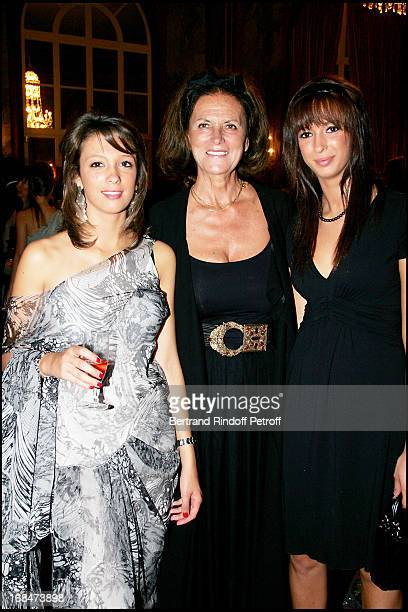 Princess Milena De Liechtenstein with Milena and Anastasia Deauville's great Ball in the occasion of the 60th anniversary of the association Acare