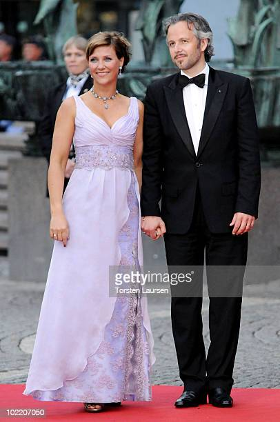 Princess Märtha Louise and Mr Ari Behn attend the Government Gala Performance for the Wedding of Crown Princess Victoria of Sweden and Daniel...