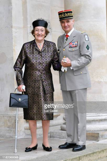 Princess Napoleon Alix de Foresta attends the Wedding of Prince Jean-Christophe Napoleon and Olympia Von Arco-Zinneberg at Les Invalides on October...