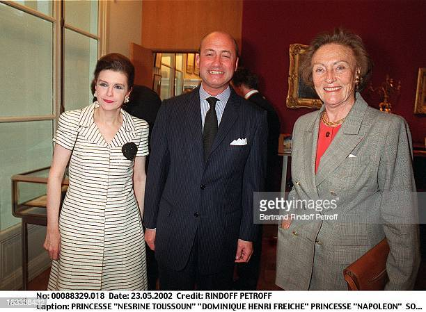 "Princess ""Nesrine Toussoun"" ""Dominique Henri Freiche"" princess ""Napoleon"" party at Christie's collection of the ""Marquis de Bath"" Avenue Matignon..."