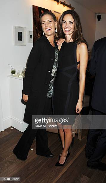 Princess Nikolaos of Greece and Denmark and Eugenia Silva attend the launch of Tatjana Anika Swimwear at Morton's on September 28 2010 in London...
