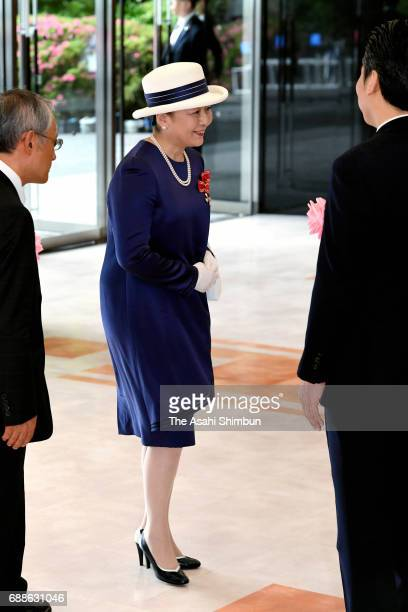 Princess Nobuko of Mikasa is seen on arrival prior to the Japanese Red Cross Society annual meeting at Meiji Jingu Kaikan on May 25, 2017 in Tokyo,...